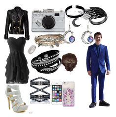 """""""Going to prom with Stiles from Teen wolf"""" by chloe-stone-9 ❤ liked on Polyvore featuring Celeste, Balmain, Kate Spade, Aéropostale, Eva Fehren, Topshop and Skinnydip"""