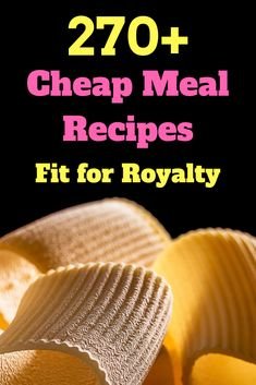 A collection of over 270 cheap meal ideas Including American, Italian, and Tex-Mex dishes. If you are looking for cheap meal plans fit for royalty, look no further! Frugal Meals, Budget Meals, Easy Meals, Frugal Recipes, Cooking For A Crowd, Cooking On A Budget, What's Cooking, Tex Mex, Large Family Meals