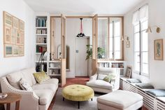 Un appartement ancien dans le Marais, rénové par Camille Hermand