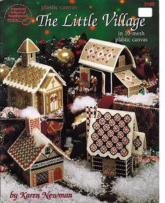 The Little Village Plastic Canvas Pattern by grammysyarngarden, $7.00