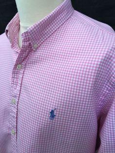 ba520a10 Men's Long Sleeve Button Down Slim Cotton Check Casual Shirts & Tops | eBay