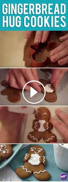 This team of gingerbread treats is happily showing their winter spirit with Royal Snowflake Icing Decorations. Simple lines, dots and swirls of royal icing give each treat a personality of its own.