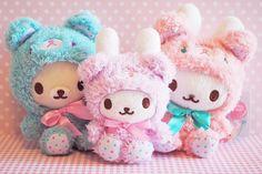 So cute :) Kawaii Plush, Cute Plush, Kawaii Cute, Kawaii Anime, Kawaii Stuff, Kawaii Things, Kawaii Felt, Bunny Plush, Rilakkuma