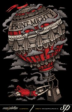 This is a t-shirt print I designed for printmighty.co.nz. I work for printmighty as an in house graphic designer. This design is available on garments at http://shop.printmighty.co.nz/ for only $20 NZD plus shipping.