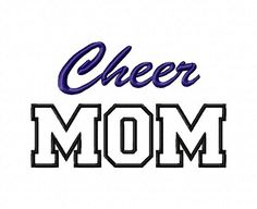 Cheer Mom Applique Machine Embroidery by RivermillEmbroidery, $2.95