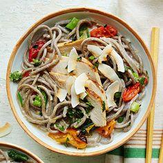 Coconut Chicken Soba Noodles
