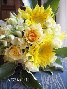 ひまわりのウェディングブーケ Wedding bouquet - AGEMINI