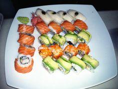 California rolls with sashimi mix!