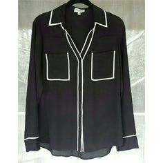 Express Portofino Shirt Express black portofino short with black lining. Worn once, excellent condition. Express Tops Blouses