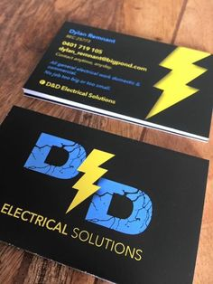 Custom and original logo and business card design. Electrician branding. Created by Bell Graphic Design.  www.facebook.com/BellGraphicDesign