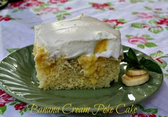 Mommy's Kitchen: Banana Cream Poke Cake & More Banana Recipes/must make a healthier version of this cake
