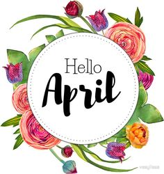 """""""Hello April - monthly cover for bullet journal, diary, planner"""" Stickers by vasylissa Bullet Journal Agenda, Bullet Journal Titles, Bullet Journal And Diary, Bullet Journal Month, Journal Diary, Bullet Journal Inspiration, Journal Pages, Bullet Journals, Journal Stickers"""