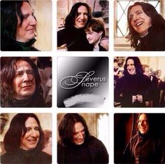 Snape hugging...HARRY POTTER!  ThE world has cone to an end.