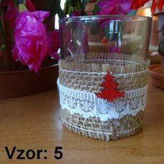 Sklenený svietnik Jarko - Sviečka - Bez sviečky, Vzor - Vzor 5