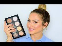 NYX Highlight & Contour Palette Review & Tutorial - YouTube