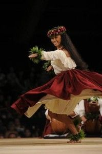 Hula - dancing that originated in Hawaii.  Two types: 'auana (modern) and kahiko (ancient)