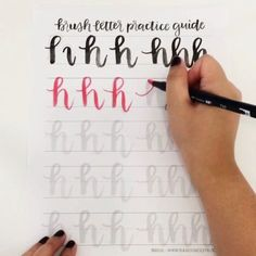 Want to get better at brush lettering? Get practicing with this guide! http://shop.randomolive.com/brushpractice?utm_content=buffer9783b&utm_medium=social&utm_source=pinterest.com&utm_campaign=buffer. #brushlettering