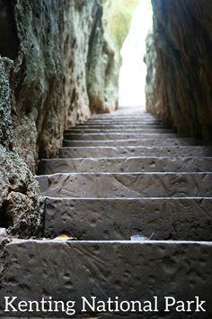 hiking & spelunking Kenting National Park, Taiwan