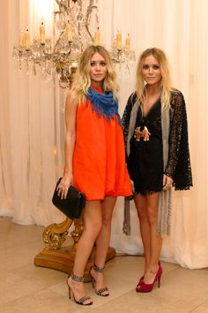 Olsen's looking fab.  Orange and blue