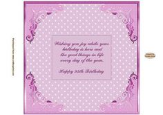 Happy 95th Birthday Pink Insert on Craftsuprint designed by Sandra Carlse - This is a lovely collection of 'Pretty in Pink' Inserts. I have included birthday inserts for Mum, Nan, Grandma etc. There are also 'age' inserts as well. Thank you for showing an interest in my design. Please click on my name above to view more of my designs which include 3d Wedding Stepper Card Kits, 3d Birthday Easel Card Kits, Decoupage Cardmaking Sheets