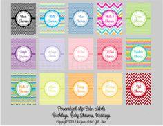 24 Personalized Chevron Lip Balm Labels by DesignerLabelGal, $8.10