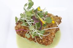 Jane Hammond Events - San Francisco, CA, United States. French lentil cake with micro greens