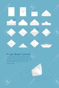 Tutorial para hacer barco de papel.