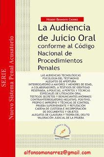 LIBROS EN DERECHO: LA AUDIENCIA DE JUICIO ORAL CONFORME AL CÓDIGO NAC...