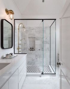 Image result for black white tile bathroom