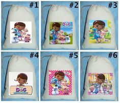 ●▬▬▬▬▬▬▬▬▬▬▬▬▬▬●✿●●✿●●✿●●✿●●✿●▬▬▬▬▬▬▬▬▬▬▬▬▬▬●  12 Doc McStuffins  BIRTHDAY PARTY FAVOR CANDY LOOT TREAT DRAWSTRING BAGS