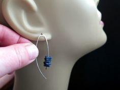 pendientes azules real. joyería moderna Sodalita en por Splurge