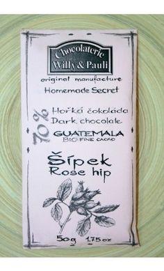 BIO Hořká čokoláda Guatemala 70% se šípkem. Využijte naší dopravy zdarma při nákupu  nad 890 Kč nebo výdejního místa v Praze zdarma.