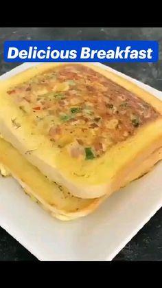 Delicious Breakfast Recipes, Brunch Recipes, Vegetarian Fast Food, Food Carving, Chutney Recipes, Breakfast Dishes, Food Dishes, Food Videos, Healthy Snacks