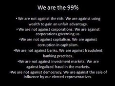 Best summary of Occupy's principles I've seen yet.