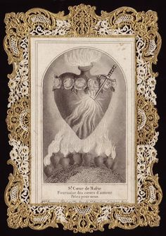 antique french prayer card...#heart