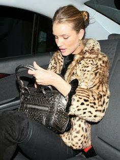 Rosie Huntington-Whiteley #fur #leopard