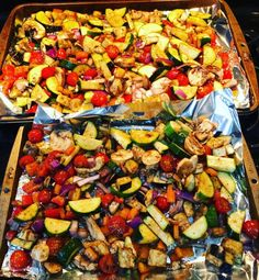 balsamic roasted veggies roasted veggies clean vegetable ideas vegetables for kids balsamic vinegar 21 day fix vegetable recipes Grilled Vegetable Recipes, Grilled Veggies, Healthy Vegetables, Grilling Recipes, Cooking Recipes, Roasted Balsamic Vegetables, Oven Roasted Vegetables, Cooking Games, Roasted Mediterranean Vegetables