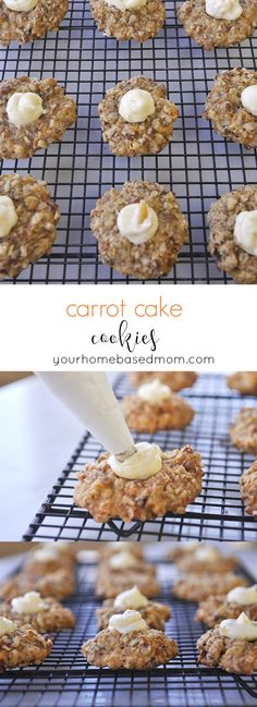 Carrot Cake Cookies - a fun alternative to carrot cake