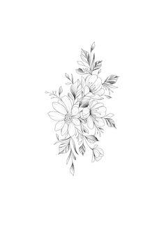 small tattoos tattoosidea – Tattoo World Floral Tattoo Design, Flower Tattoo Designs, Flower Tattoos, Bild Tattoos, Body Art Tattoos, Sleeve Tattoos, Tatoos, Pretty Tattoos, Unique Tattoos