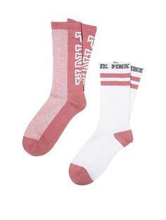 2-Pack Crew Sock PINK