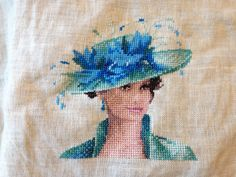 Josephine by John Clayton.  A miniature design I stitched along w/ several others on an afghan project.