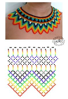 Natali Khovalko - Do it my self Diy Necklace Patterns, Seed Bead Patterns, Seed Bead Tutorials, Beaded Jewelry Patterns, Beading Tutorials, Beading Patterns, Beading Techniques, Beaded Crafts, Beaded Collar