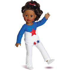 "18"" My Life As Gymnast Dressed Doll, African American"