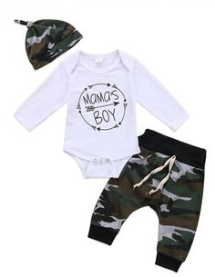 Camo Mama's Boy Baby Outfit