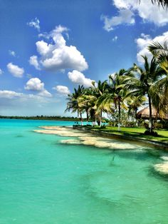 Laguna de Bacalar in Bacalar, Quintana Roo