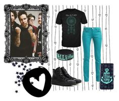 """""""Fall Out Boy"""" by xbandtrashx ❤ liked on Polyvore featuring Converse, converse, emo, Punk, poppunk and falloutboy"""