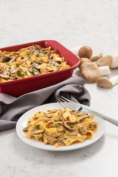 Vegetarian Stroganoff uses mushrooms for a twist on classic beef stroganoff that's vegetarian and under 350 calories.