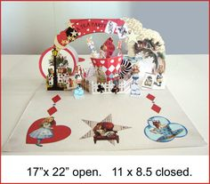 Pop up Alice in wonderland Large card. by PaperCottagePrinties