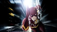 The Flash Concept Digital Art. just a concept based on new 52 and tv series. New 52, The Flash, Deadpool, Tv Series, Digital Art, Concept, Superhero, Anime, Fictional Characters