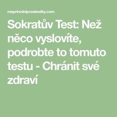 Sokratův Test: Než něco vyslovíte, podrobte to tomuto testu - Chránit své zdraví Math Equations
